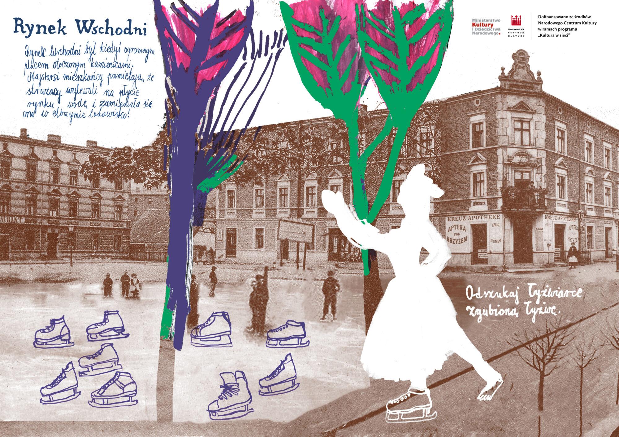 kolorowanka mazanka o rynku wschodnim na Głównej autorka Anna Kaźmierak